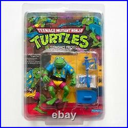 1989 Playmates TMNT Genghis Frog BAGGED GRENADES Rare Grail Sealed Unpunched MOC