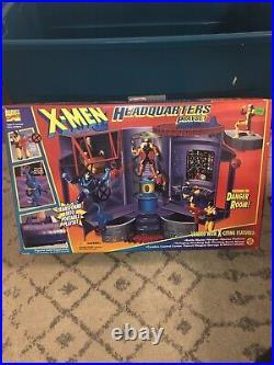 1995 X-MEN HEADQUARTERS PLAYSET Danger Room RARE Wolverine New Mutants Sealed