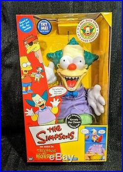 2001 The Simpsons Krusty The Clown Treehouse Of Horror Talking Doll Sealed Rare