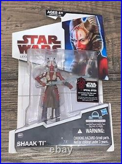 2009 Star Wars Legacy Collection Shaak Ti 3 3/4 Figure Bd61 Sealed Very Rare