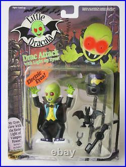 5x Rare 1991 Little Dracula Figures Maggot Garlic Man + Dracster Vehicle New