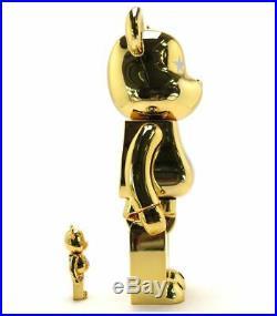 Atmos Gold Bearbrick Medicom Toy Be@rbrick 400% 100% Stars Sealed Rare Limited