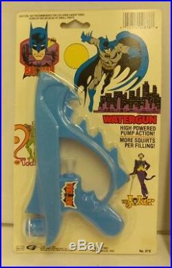 BATMAN 1988 1989 SEALED Batman DC Comics RARE Watergun Handcuffs Sparkle Gun NEW