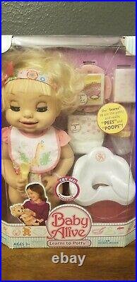 Baby Alive Learns to Potty Set New Factory Sealed Extremely Rare