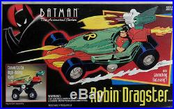 Batman Animated Series Robin Dragster New Sealed Rare