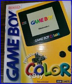 Gameboy Color Dandelion Yellow Nintendo Game Boy New Factory Sealed RARE