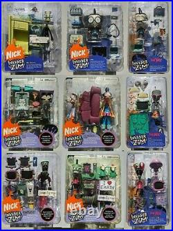 Invader Zim Palisades Action Figures Hot Topic Nick rare set lot of 9 new sealed