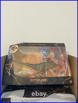 Jurassic Park Dilophosaurus 6-Inch Amber Collection New Sealed World RARE