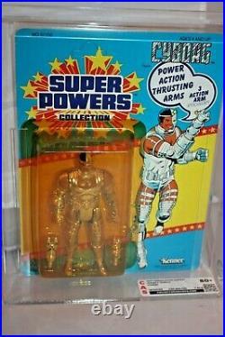 Kenner Super Powers Cyborg MOC AFA CAS 80 + Rare Vintage Sealed MINT Unpunched