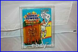 Kenner Super Powers Cyborg MOC AFA CAS 80 + Rare Vintage Sealed MINT Unpunched