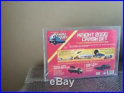 Knight Rider Kenner 1983 Knight 2000 Crash Set Factory Sealed AFA 75 RARE LOOK