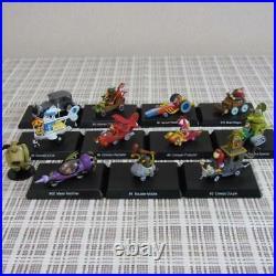 Konami Wacky Races Figure Full Set With 11 items Sealed 1 Used! Very RARE