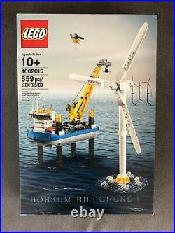 LEGO 4002015 Borkum Riffgrund 1 Wind Turbine, Employee Gift 2015, Rare, Sealed