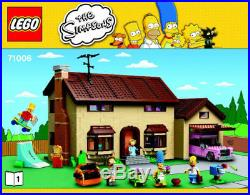 LEGO Simpsons Rare Simpsons House 71006 No Box (New & Sealed Contents)