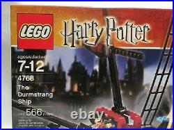 Lego 4768 Harry Potter The Durmstrang Ship New In Sealed Box Rare Goblet of Fire