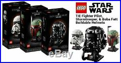 Lego Star Wars Helmets 75274 75276 75277 Complete Set (Sealed & New) (V. RARE)