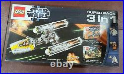 Lego Star Wars Y-Wing Starfighter 3-in-1 Super Pack 66411 Sealed Super Rare