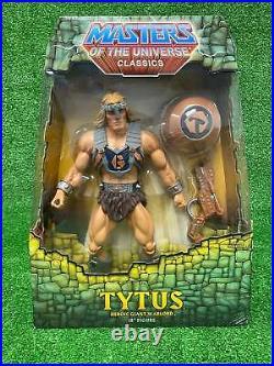 Masters of the Universe MOTU Classics MOTUC Tytus 2009 Mattel NIB Sealed rare