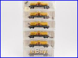 N Micro Trains Kadee Shell Oil Single Dome Tank Car 6-Pack Set #1 SEALED RARE