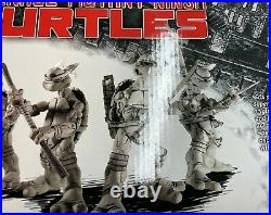 NECA 2008 Teenage Mutant Ninja Turtles Black & White 4-Pack Box Set Sealed RARE