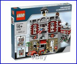 NEW SEALED CREATOR EXPERT LEGO 10197 Creator Fire Brigade Modular Set (RARE)