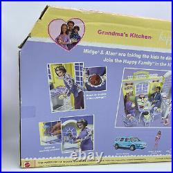 NEW Sealed Barbie Happy Family Grandma's Kitchen Grandpa Set B9880 RARE L@@K