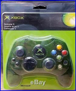 New Sealed Authentic Original Xbox Controller S Type Green Translucent Rare