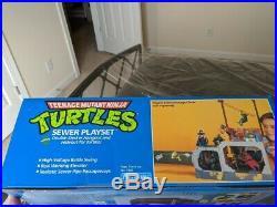 Playmates 1989 TMNT Ninja Turtles Sewer Lair Playset Sealed Near Mint Rare AFA