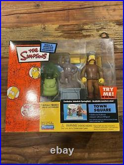 Playmates The Simpsons WOS Town Square withJebediah Springfield NIB Very Rare
