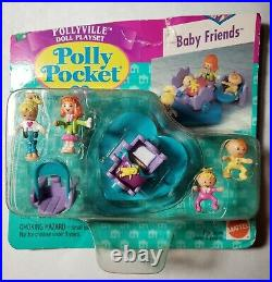 Polly Pocket BABY FRIENDS New & SEALED Bluebird RARE! 1996