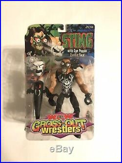 RARE 2000 WCW Gross-Out Sting Wrestling Figure WWF WWE NEW & SEALED