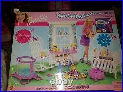 RARE 2001 Barbie Krissy Nap n Play Nursery Playset BRAND NEW FACTORY SEALED