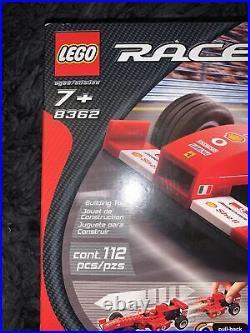 RARE LEGO Racers Ferrari F1 Racer (8362) New Sealed in Box Rare Retired Set
