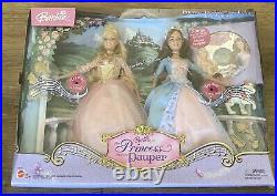 RARE NEW SEALED Barbie Princess Anneliese and Erika The Pauper Doll Set FREE S&H