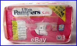 RARE VINTAGE 80'S ULTRA PAMPERS GIRL 4-10kg 9-22lbs PLASTIC DIAPERS NEW SEALED