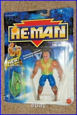 Rare 1990 THUNDER PUNCH He-Man vtg mattel action figure Factory sealed