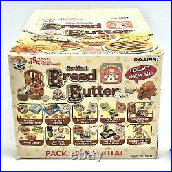 Rare 2007 NEW Re-ment Bread Butter Food Miniatures Full Set of 10 Sealed Case