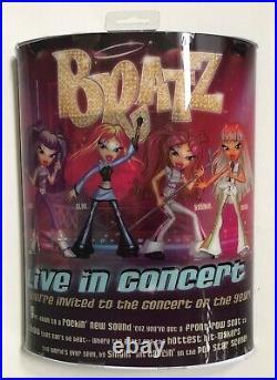 Rare BRATZ Live In Concert CLOE Fashion Doll withExclusive CD & Poster SEALED NIP