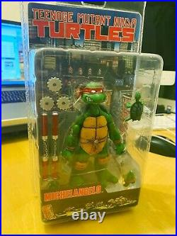 Rare NECA Teenage Mutant Ninja Turtles Michelangelo Figure 2008 New Sealed NISB