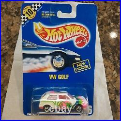 Rare Sealed in Box Hot Wheels VW Golf White with Pink Interior #106 Great Condtion