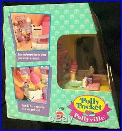 Rare Vintage 1995 Polly Pocket Ice Cream Parlor New Sealed 14528 Nrfb Strawberry