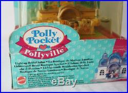 Rare Vintage 1995 Polly Pocket Light Up Bridal Salon Playset New Sealed
