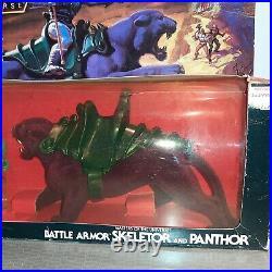 Rare vintage mib skeletor battle armor and panthor gift pack new set sealed