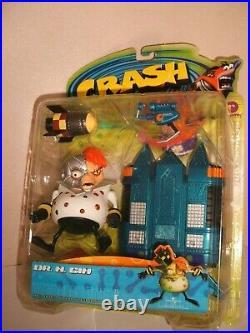 Resaurus Crash Bandicoot Dr. N. Gin Factory Sealed On High Grade Card Very Rare