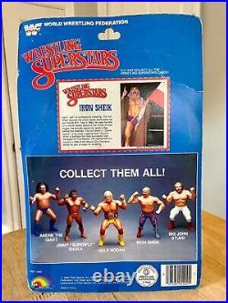 SEALED 1984 LJN MOC WWF Wrestling Superstars Iron Sheik with Poster RARE