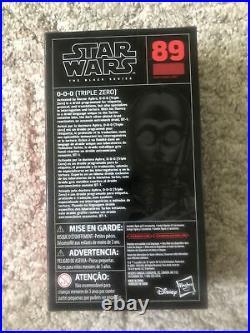 Star Wars Black Series 6 0-0-0 (Triple Zero) #89 Doctor Aphra Sealed RARE