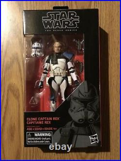 Star Wars Black Series Captain Rex #59 Clone Trooper 6 Figure Sealed Rare Look