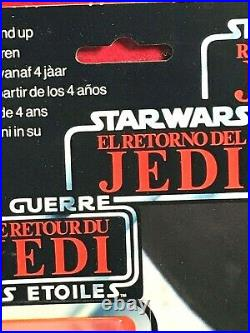 Star Wars Tri Logo Leia Boushh Vintage Kenner Sealed AFA High Grade RARE