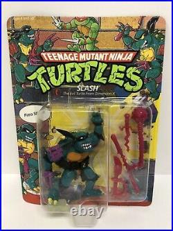TMNT 1990 Teenage Mutant Ninja Turtles Slash Action Figure Toy MOC Sealed RARE