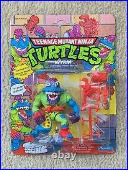 TMNT 1991 Teenage Mutant Ninja Turtles Wyrm Action Figure Toy MOC Sealed RARE